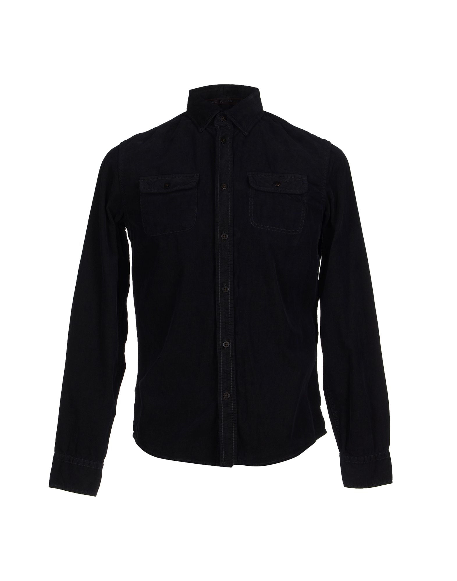 armani shirt in blue for lyst