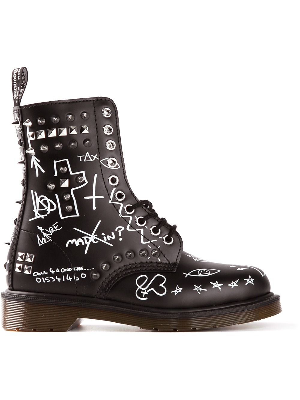 Dr Martens Graffiti Print Boot In Black Lyst