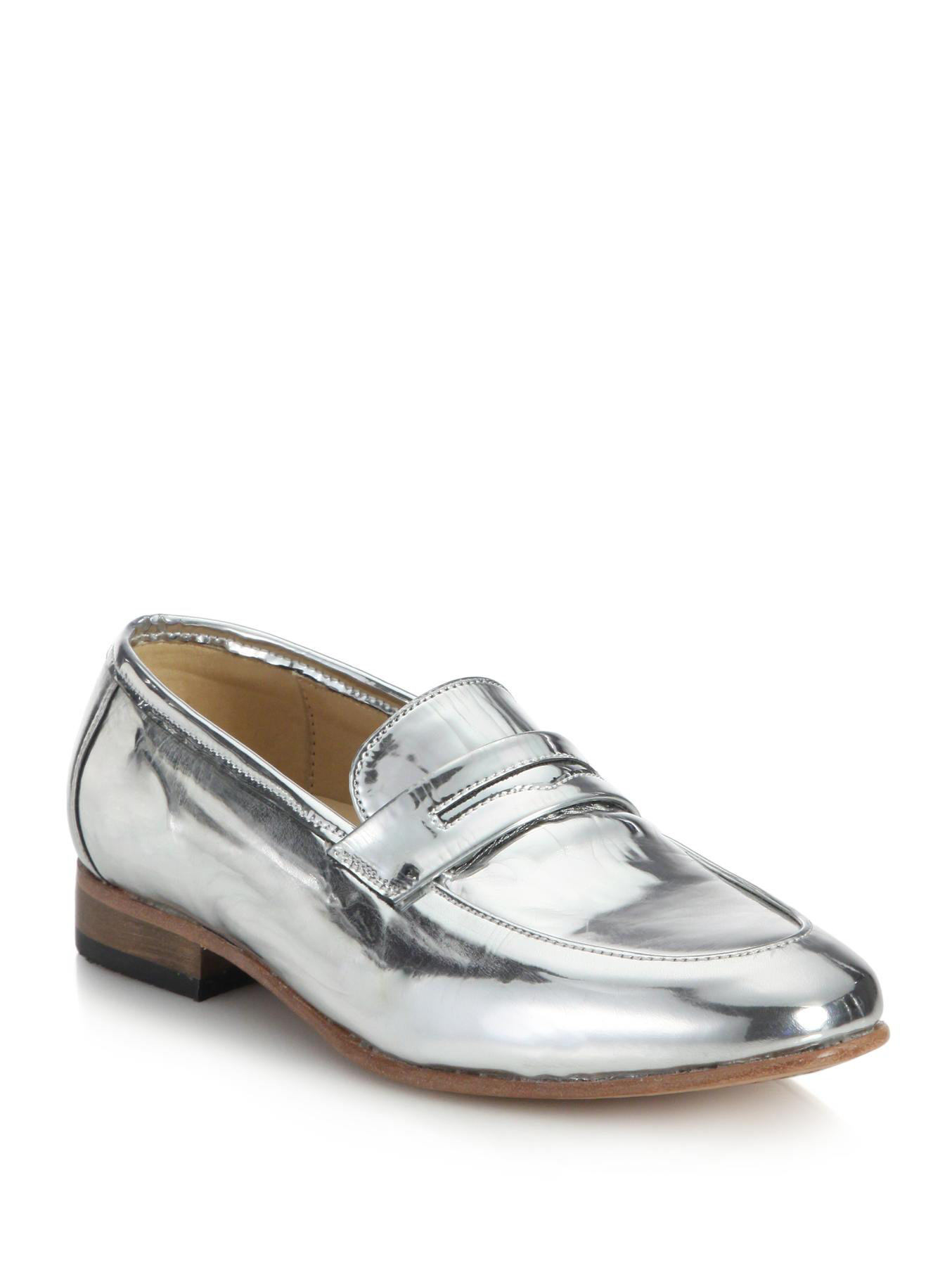 Metallic leather loafers cheap real outlet store cheap price discount cost hTrQAaVw5