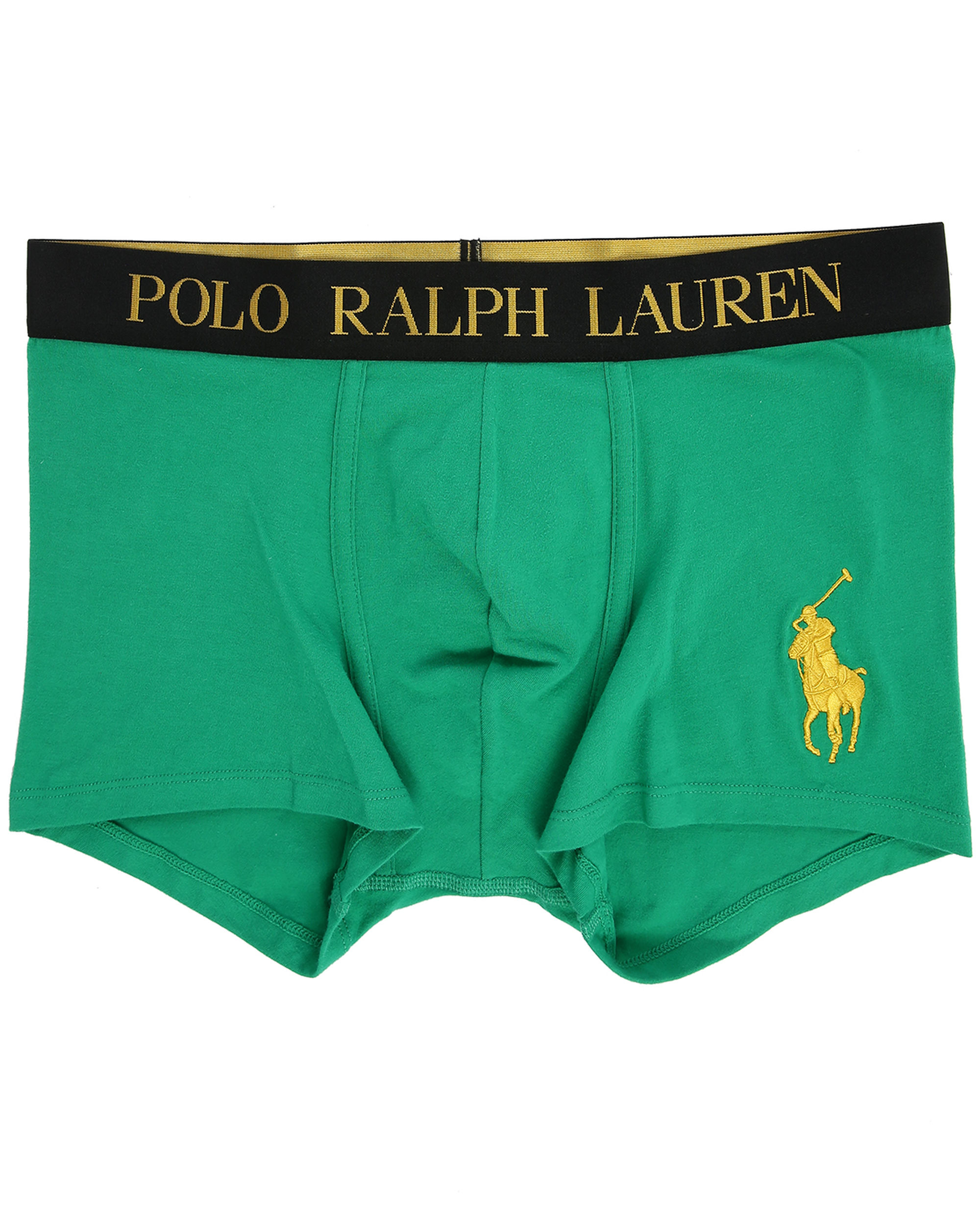 Polo ralph lauren Big Pony Gold Boxer Shorts With Green Logo in Green for Men |