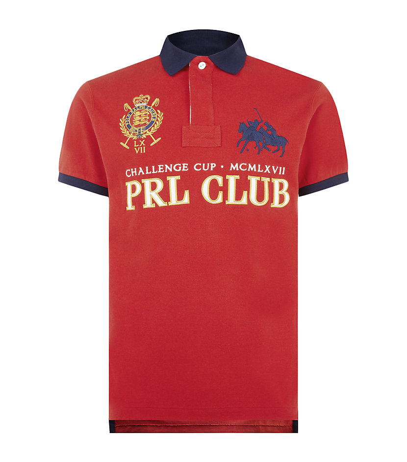 Polo Ralph Lauren Custom Fit Prl Club Polo Shirt In Red