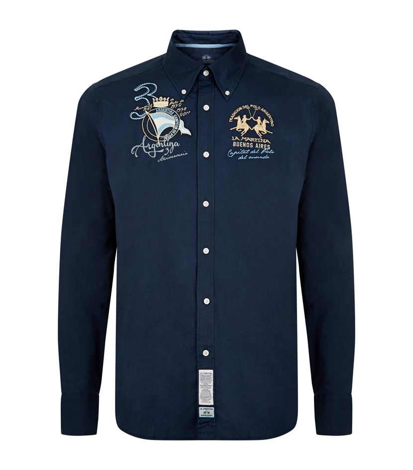 la martina argentina polo shirt in blue for men lyst. Black Bedroom Furniture Sets. Home Design Ideas