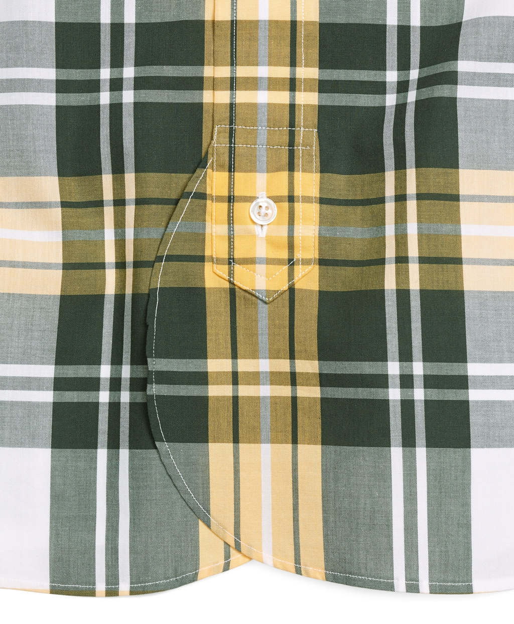 Brooks Brothers Plaid Oxford Button Down Shirt In Green