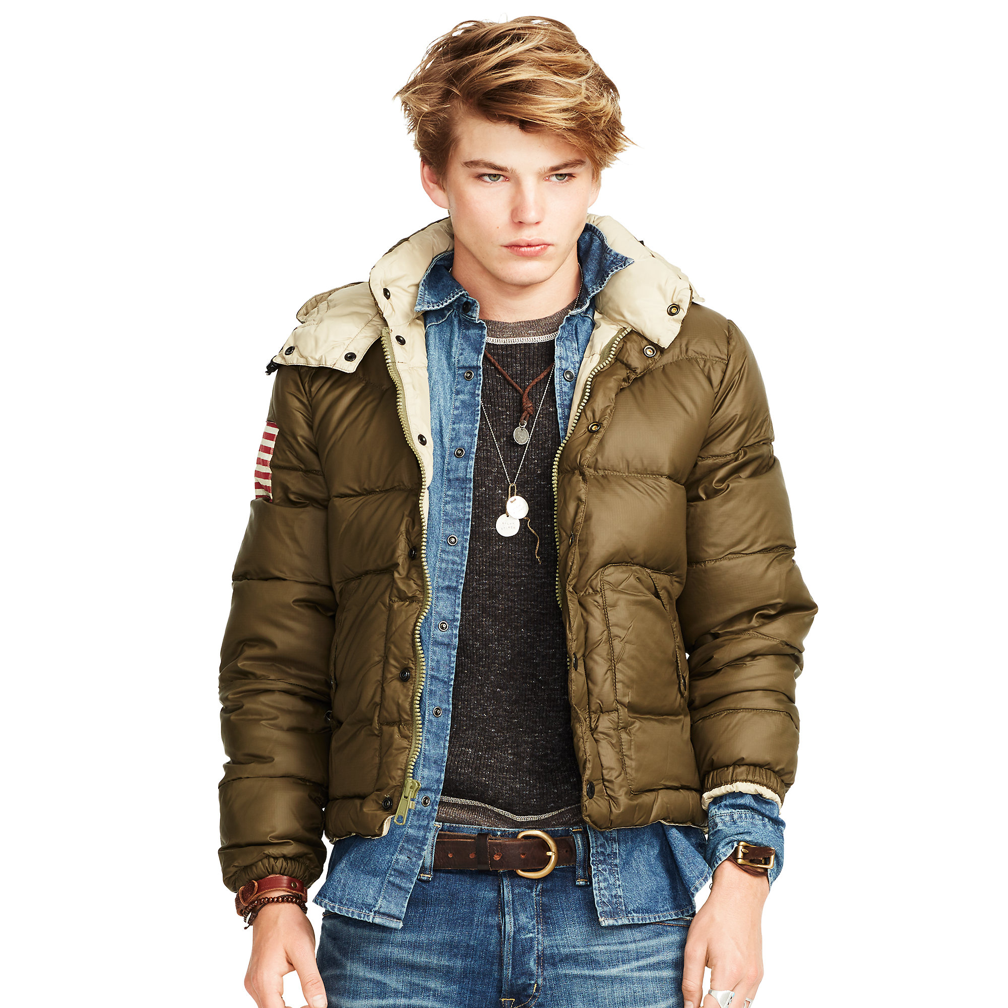 denim supply ralph lauren quilted ripstop down jacket in green for men lyst. Black Bedroom Furniture Sets. Home Design Ideas
