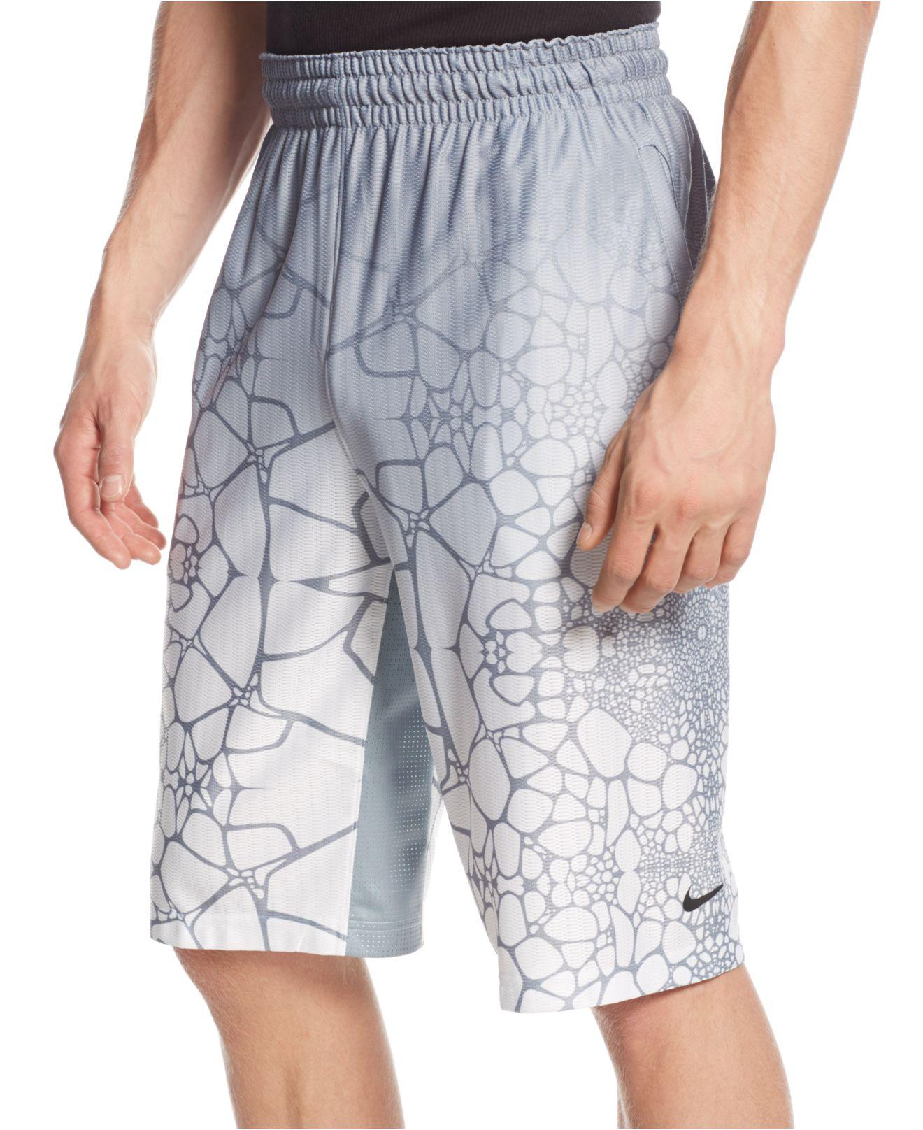 239307c43 ... promo code for lyst nike lebron tamed 12 basketball shorts in gray for  men b21d9 b524d