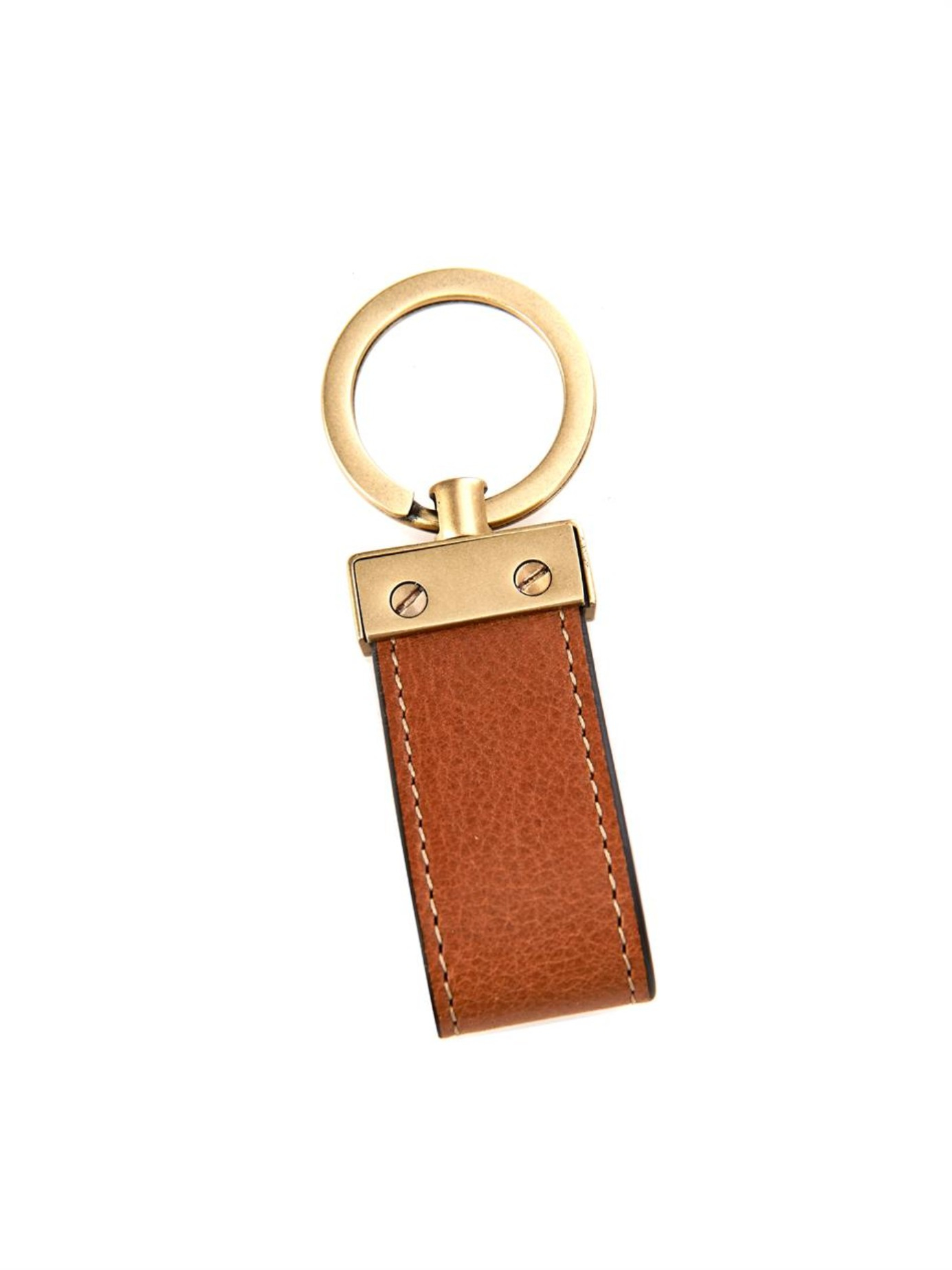 Lyst Mulberry Leather Loop Key Ring In Brown For Men