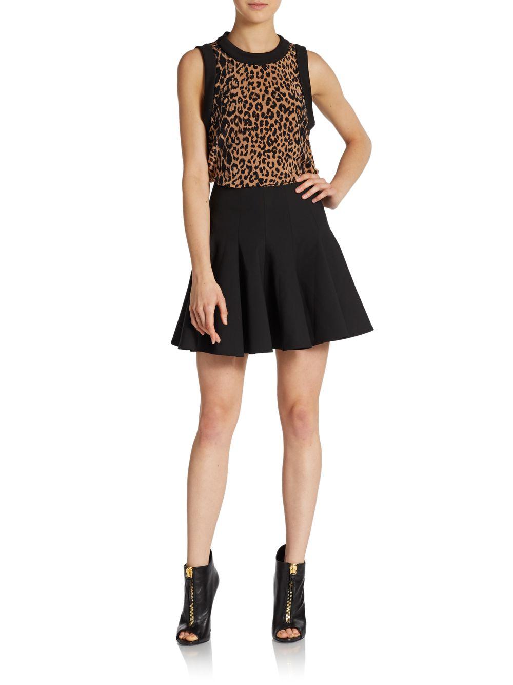 cfbbe91656fb Elizabeth and James Vivi Leopard-Print Silk Top - Lyst