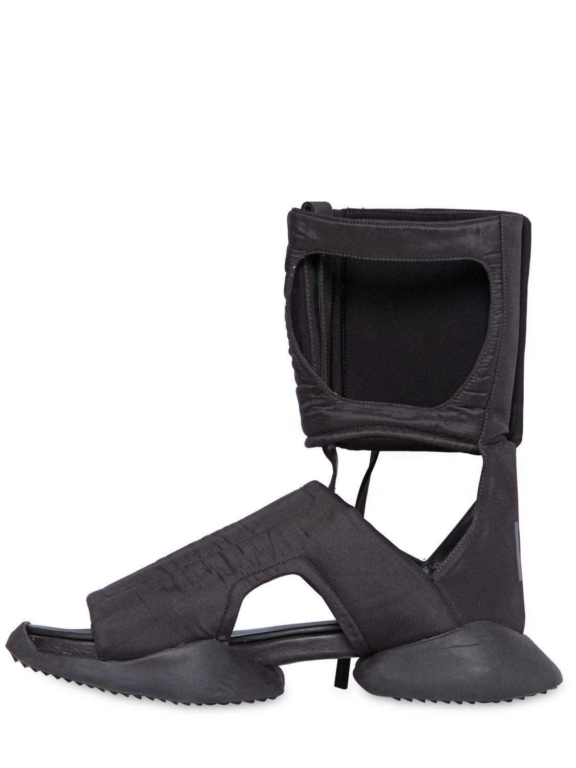 a9f8f6d2f084 Lyst - Rick Owens Padded Nylon Cargo High Top Sandals in Black for Men