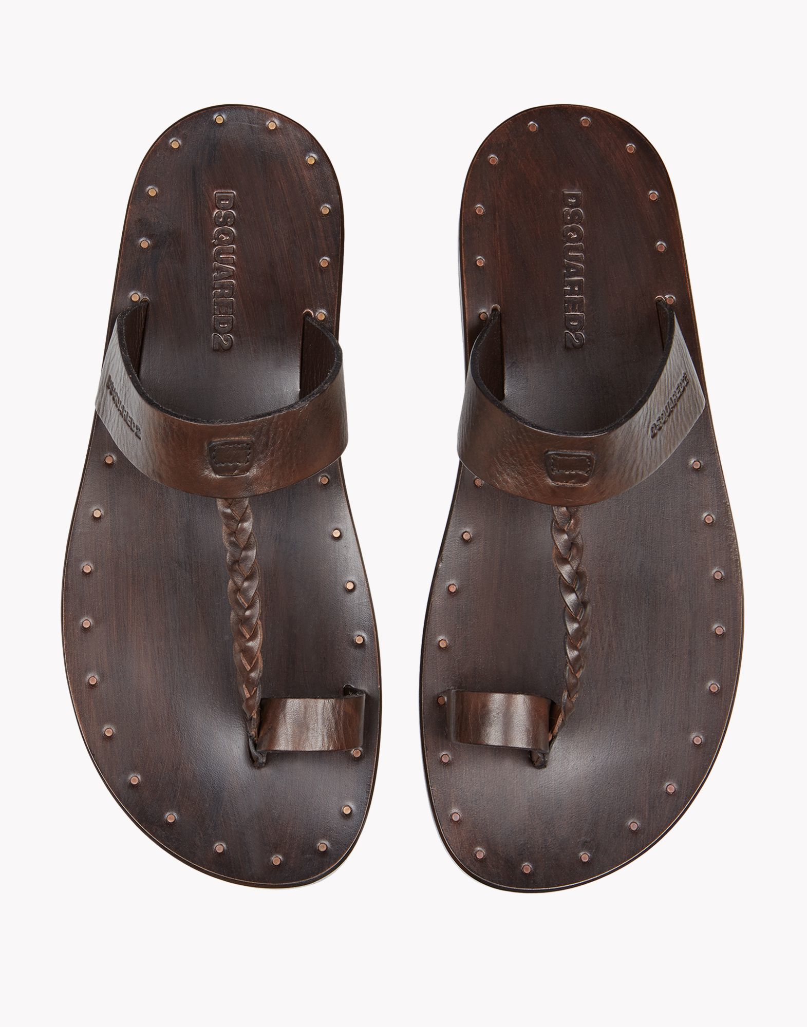 Brown Leather Shoes With White Sole