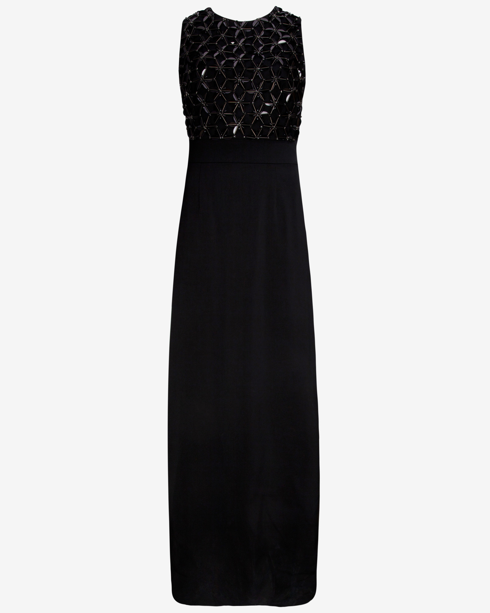 Ted baker Embellished Maxi Dress in Black | Lyst
