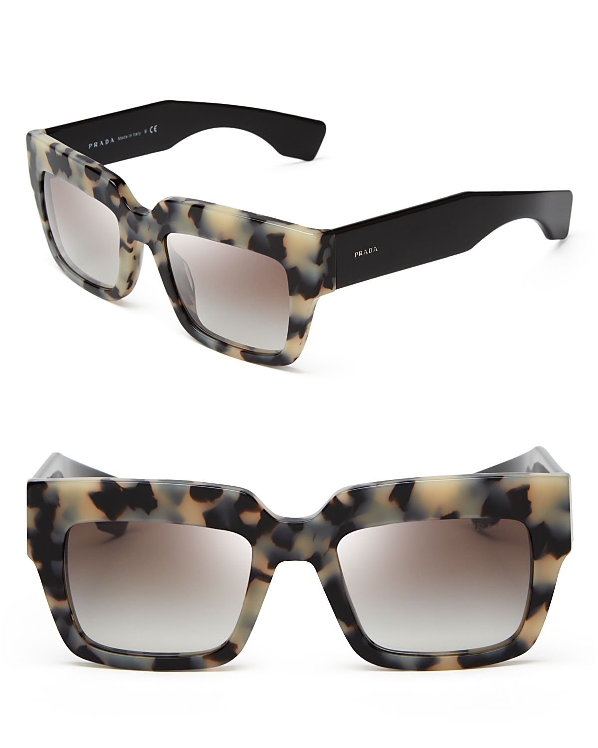 e907ff944f low price prada prada black yellow oversized square sunglasses efeee 872a3   uk lyst prada square sunglasses 5ccbe 2c55b