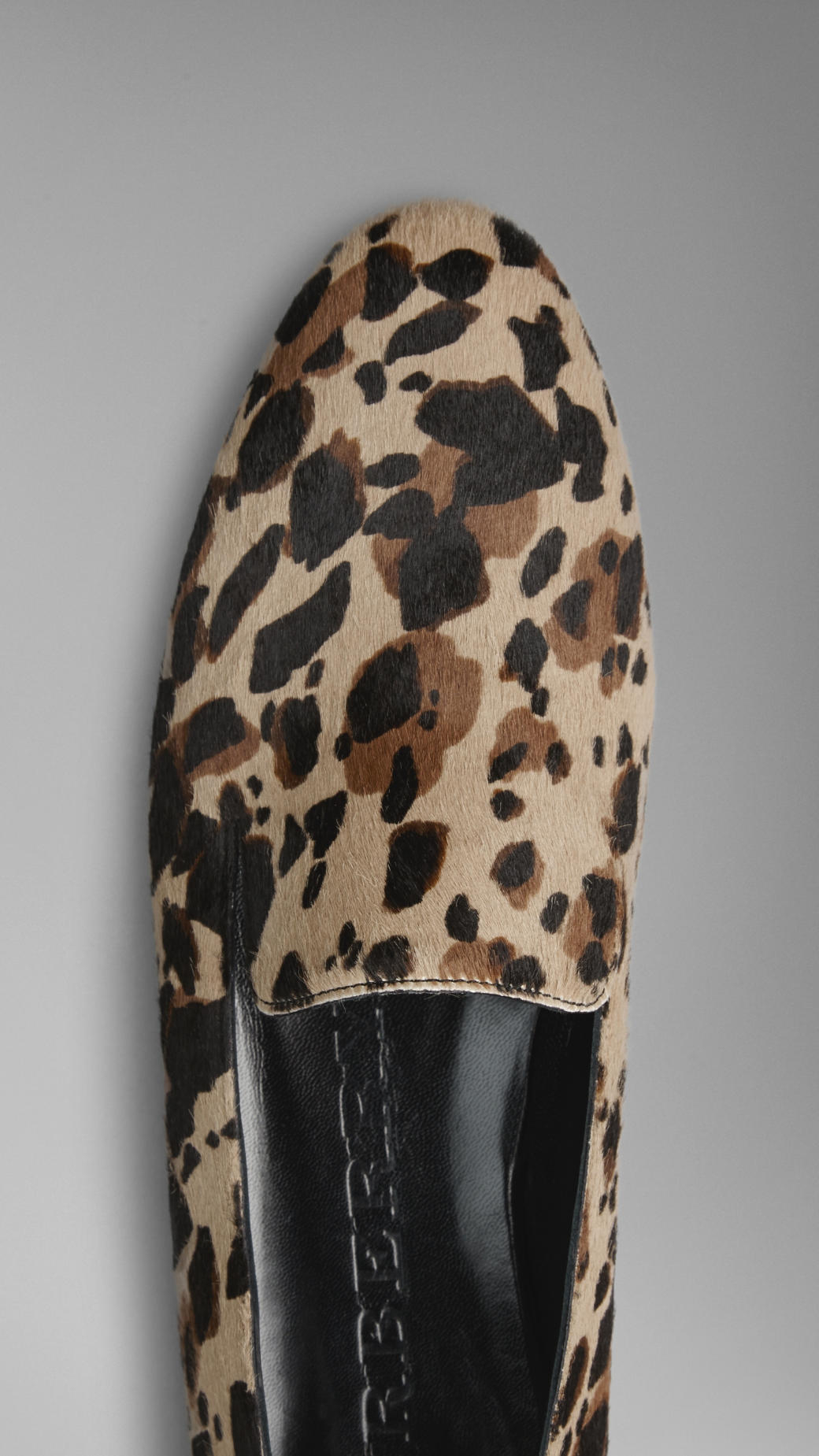 1266c718afd Lyst - Burberry Animal Print Calfskin Loafers
