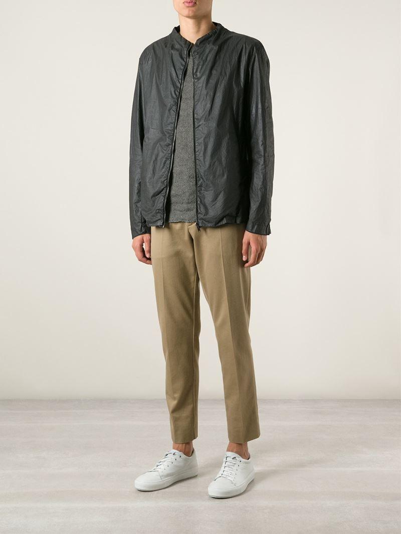 Lyst Transit Zip Up Wind Breaker Jacket In Black For Men