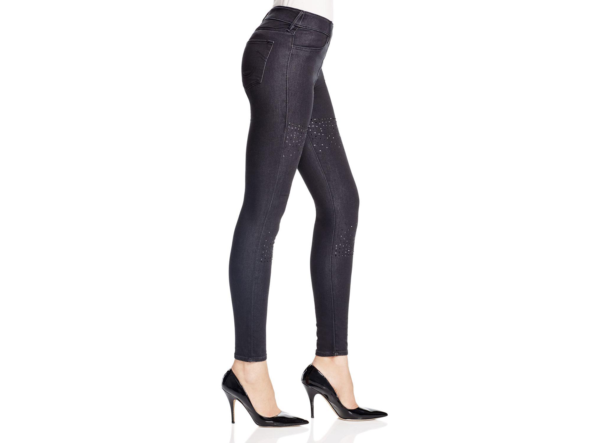 60c8fcb43e0c3 True Religion Runway Denim Leggings In Black in Black - Lyst
