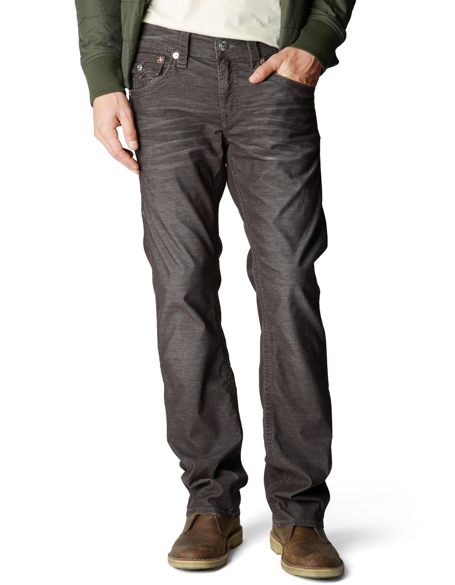 True Religion Ricky Straight Corduroy Pant in Brown for ...