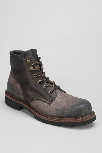 frye dakota plain toe boot in gray for chocolate lyst