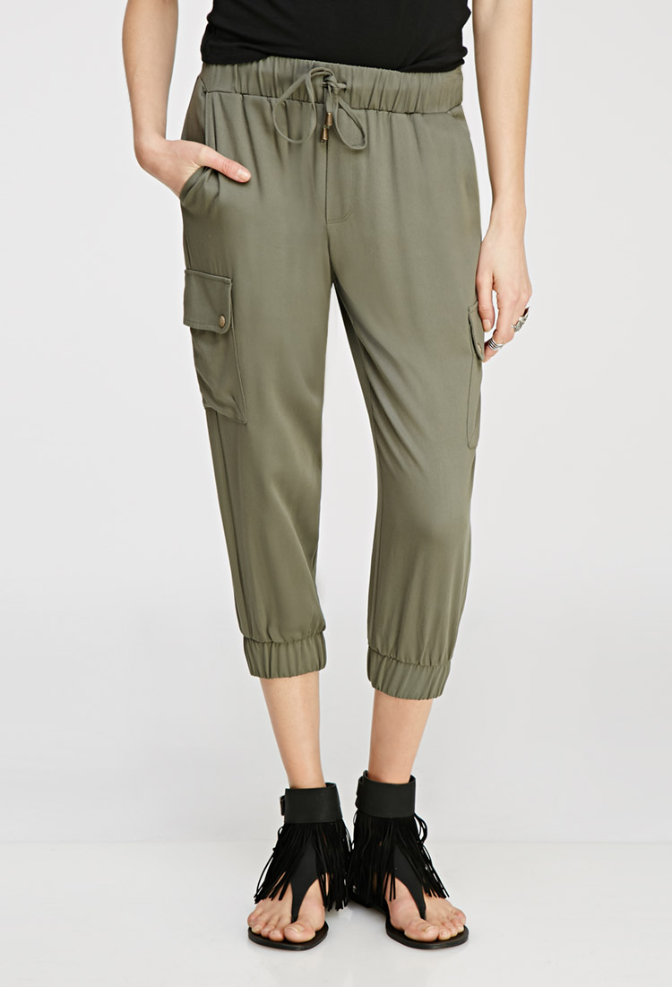 Original Forever 21 In Command Cargo Joggers In Natural  Lyst
