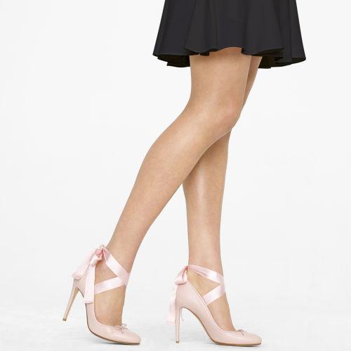 Lyst - Ralph lauren collection Barton Calfskin Ballet Pump in Pink