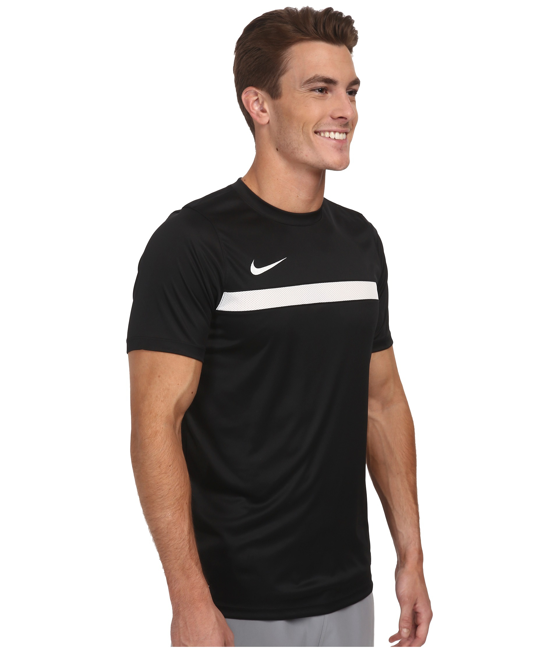 bbdcca9ef5 ... new style 7abd0 45a33 Lyst - Nike Academy Ss Training Top 1 in Black ...