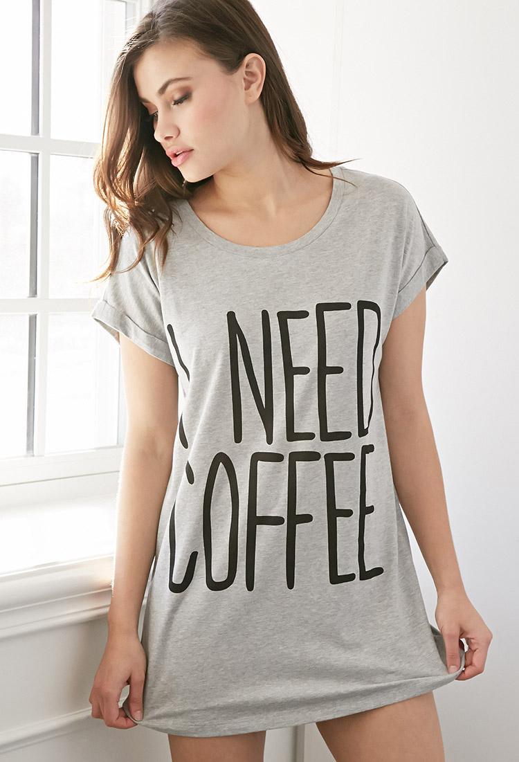 Black t shirt nightdress - Gallery