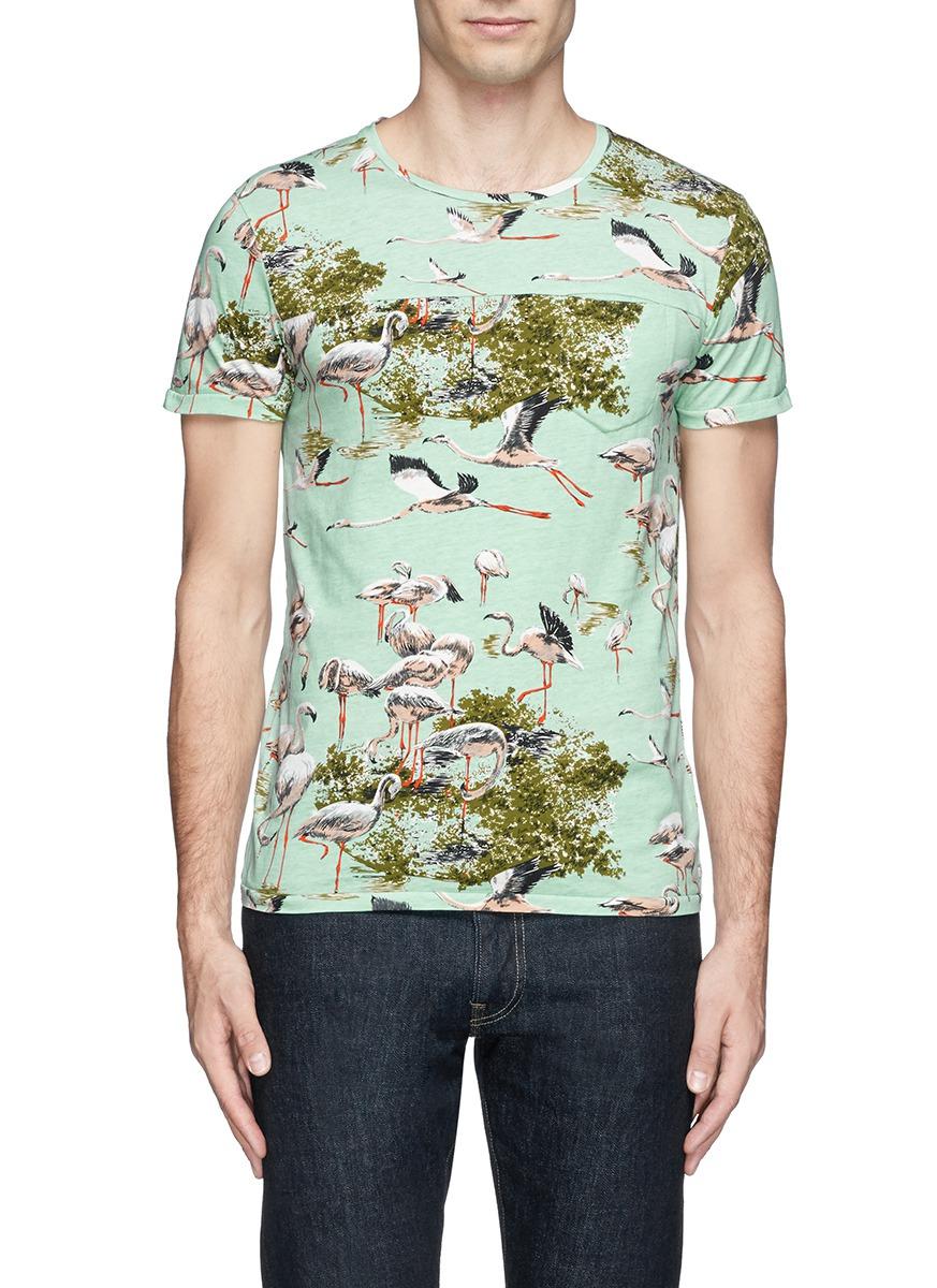 Lyst Scotch Soda Flamingo Camouflage Print T Shirt For Men
