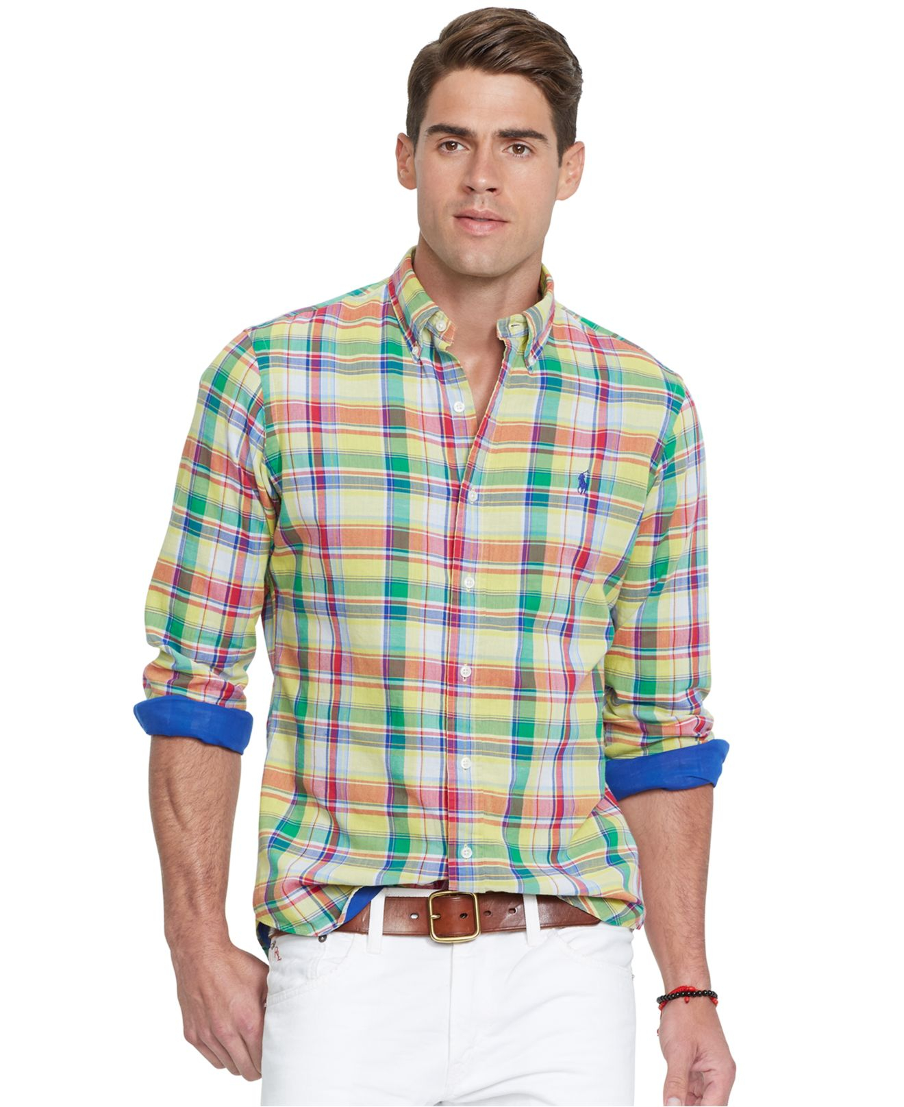 Lyst polo ralph lauren double faced poplin shirt in blue for What is a poplin shirt
