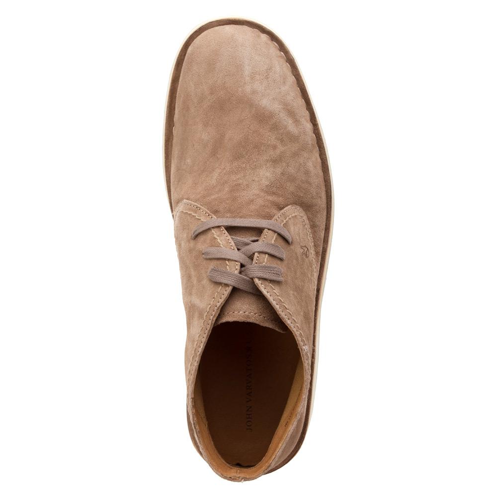 john varvatos hipster chukka boot in natural for men lyst