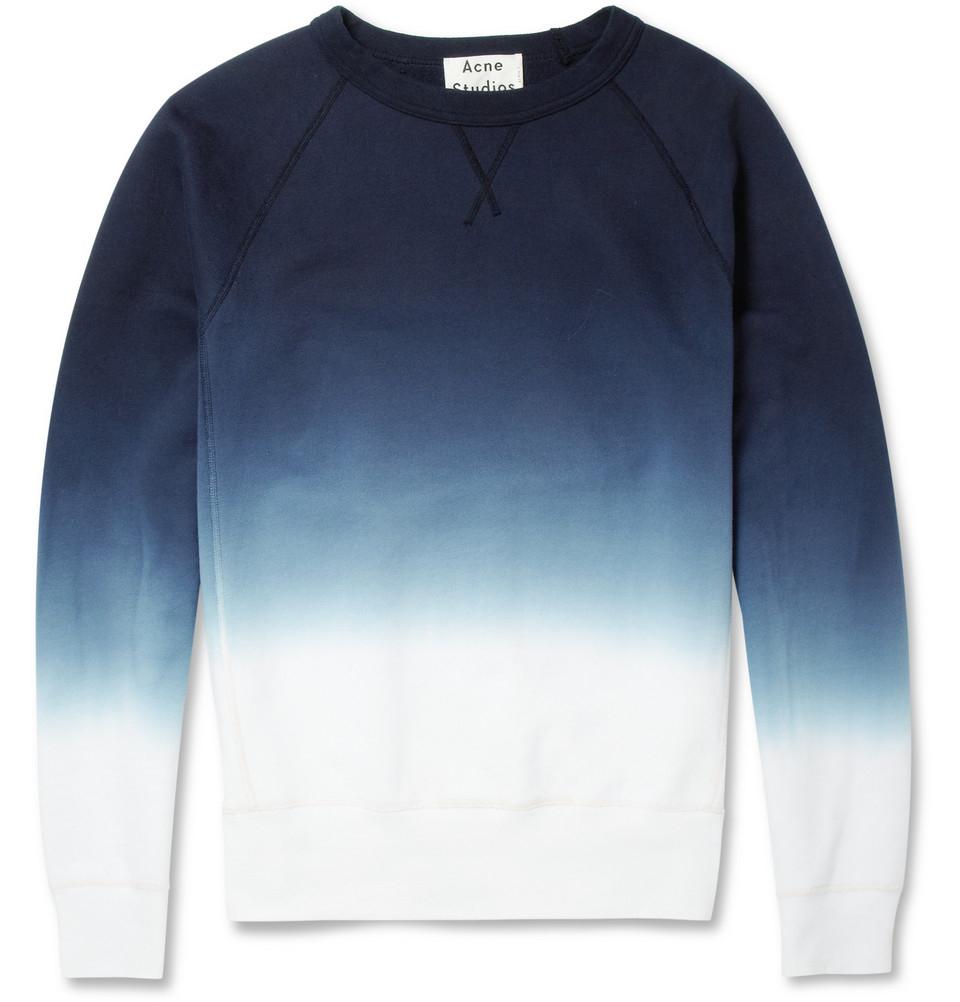 Acne studios college dipdye loopback cottonjersey for Mens dip dye shirt