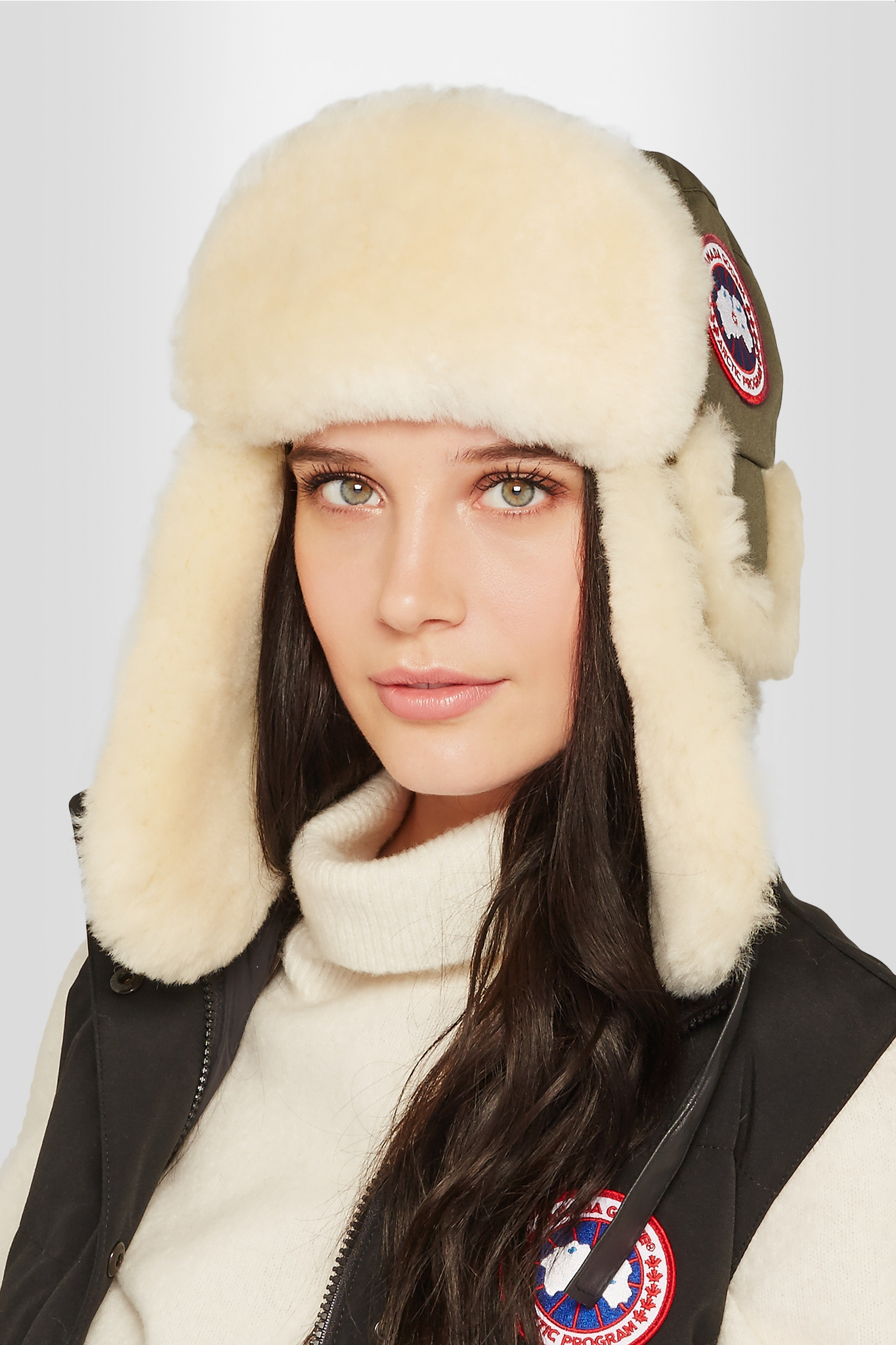 Canada Goose chilliwack parka sale discounts - Canada goose Canvas And Shearling Hat in Green (Army green) | Lyst