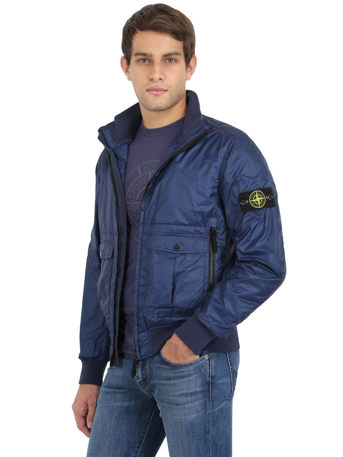 Stone Island Micro Ripstop Tyvek Shield Casual Jacket In