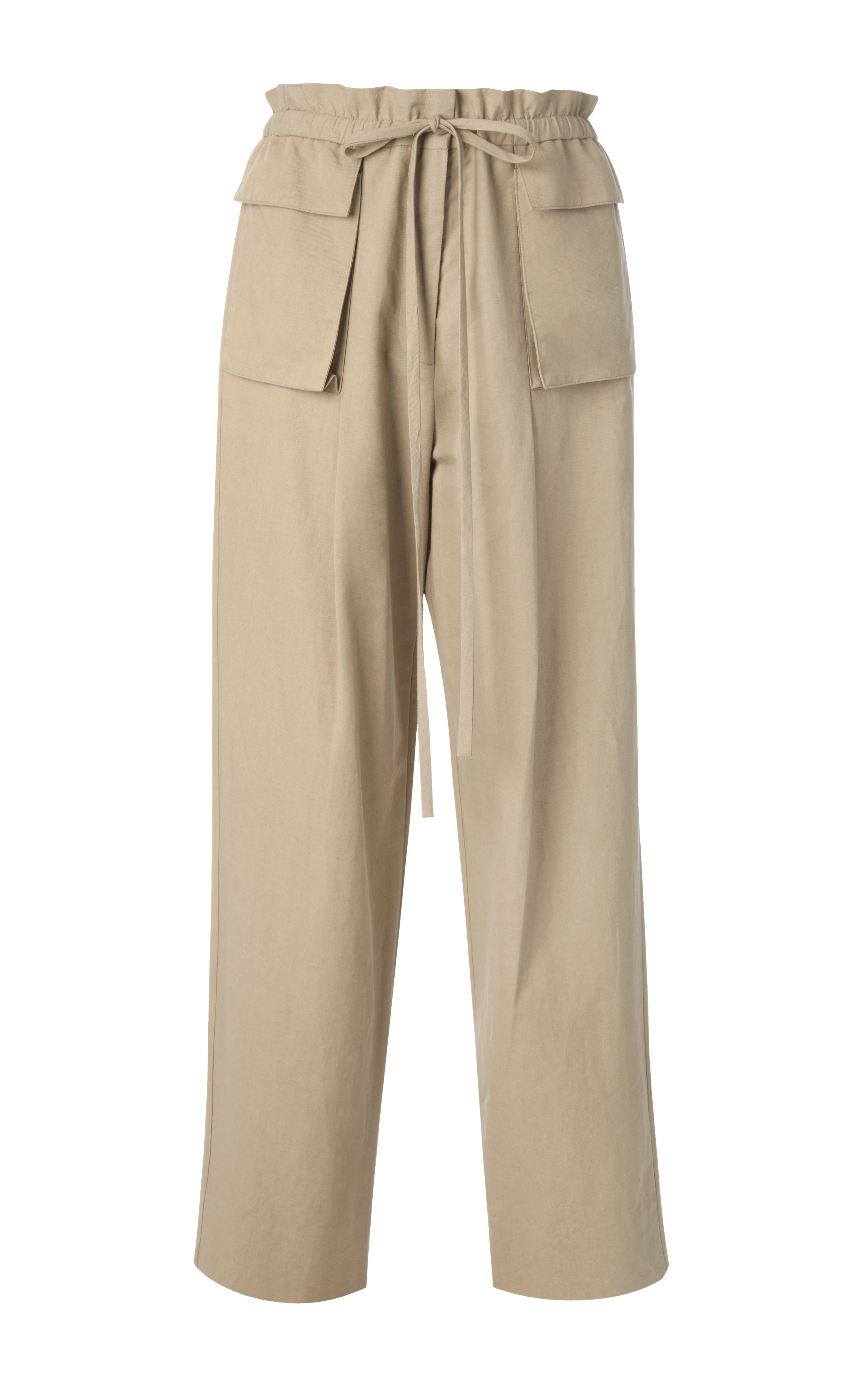 Rosie Assoulin Cotton And Linen Blend Pleated Cargo Pants