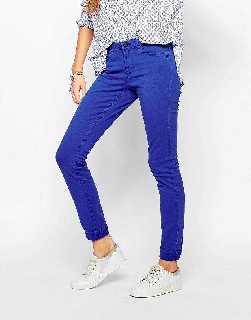maison scotch bohemienne skinny jeans in cobalt in blue lyst. Black Bedroom Furniture Sets. Home Design Ideas