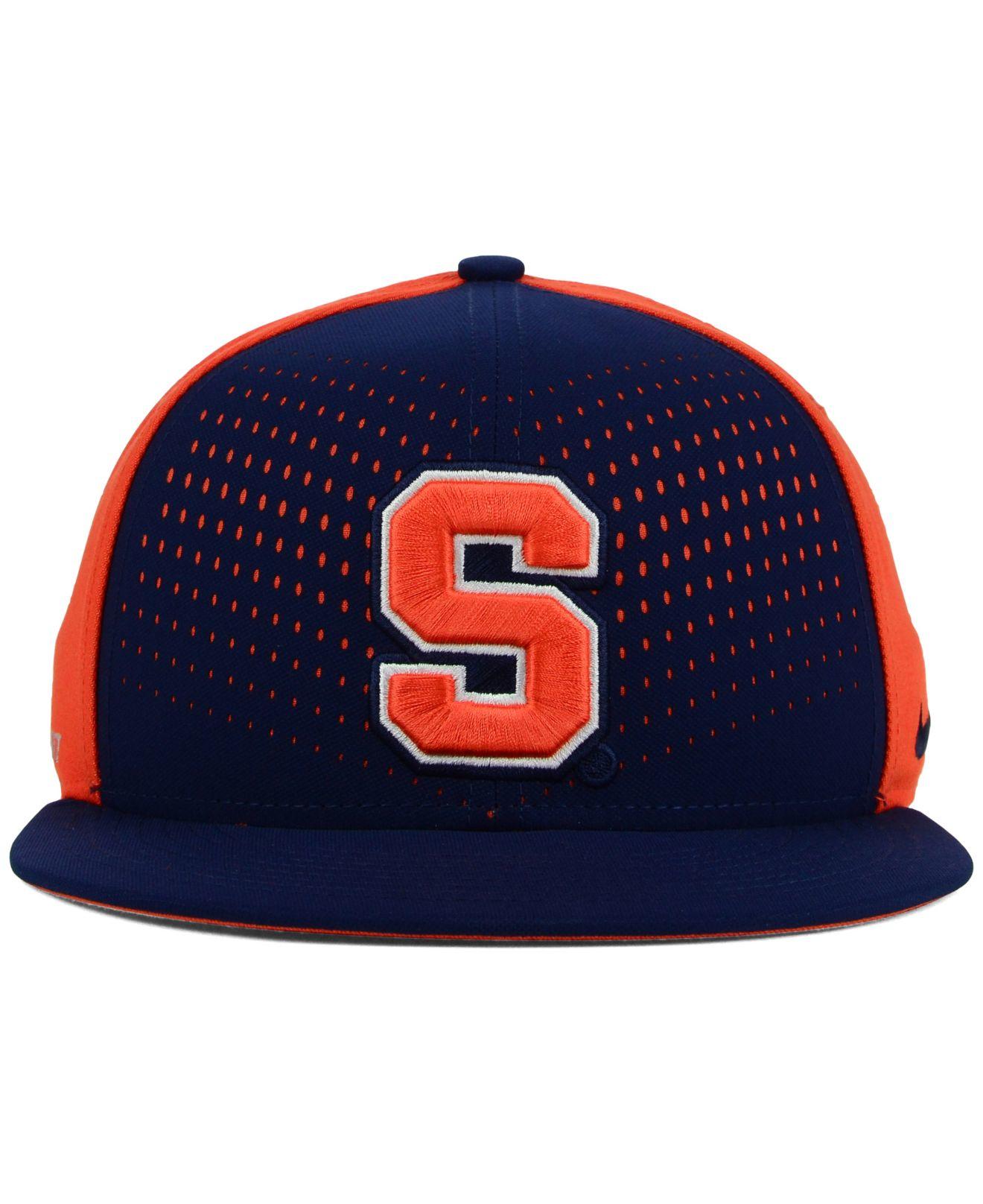 d2a65d01690d73 ... switzerland lyst nike syracuse orange true seasonal snapback cap in blue  for men f6d47 92e0a