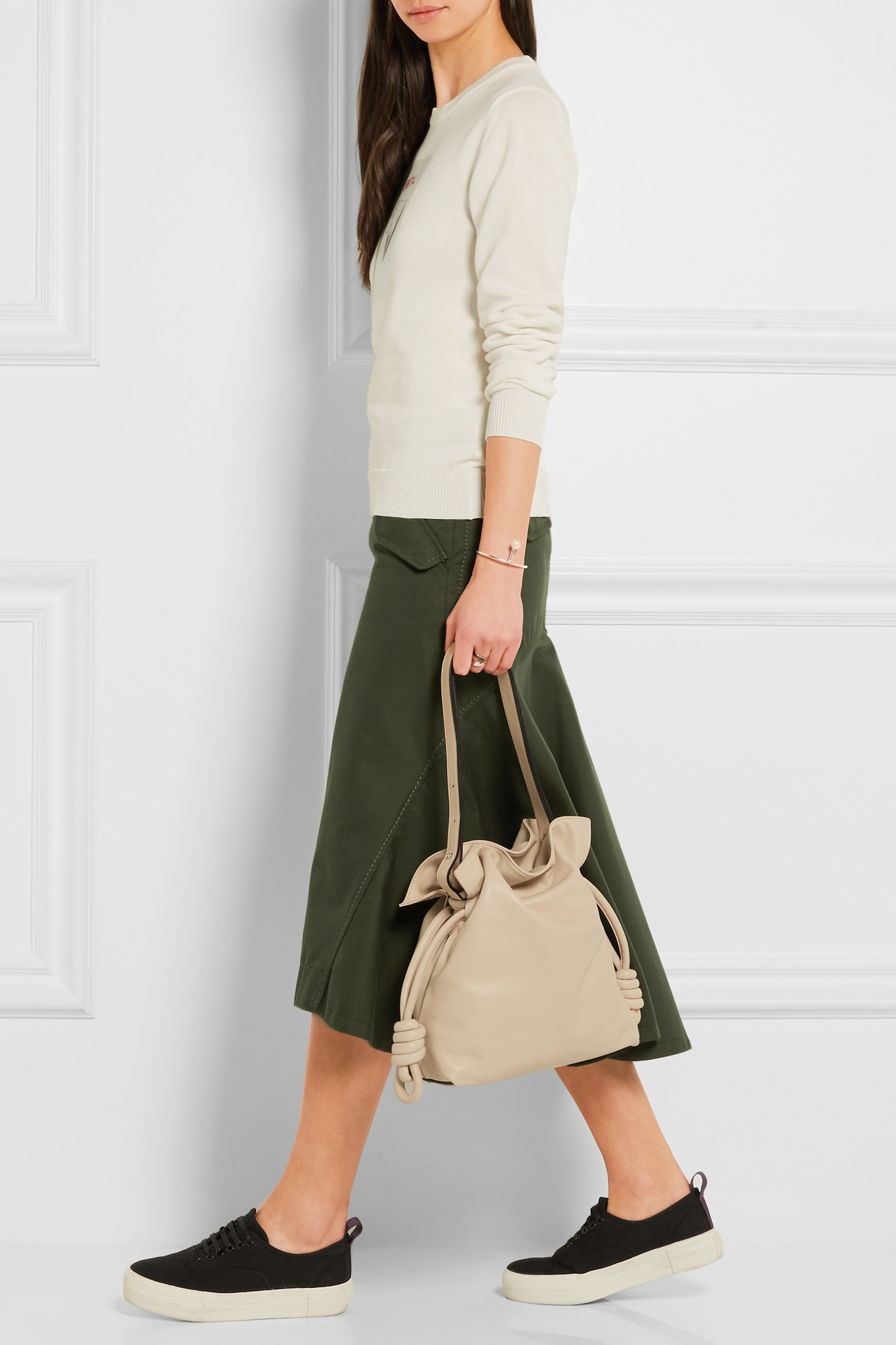 6182081dbacd Loewe Flamenco Knot Small Leather Shoulder Bag in Natural - Lyst