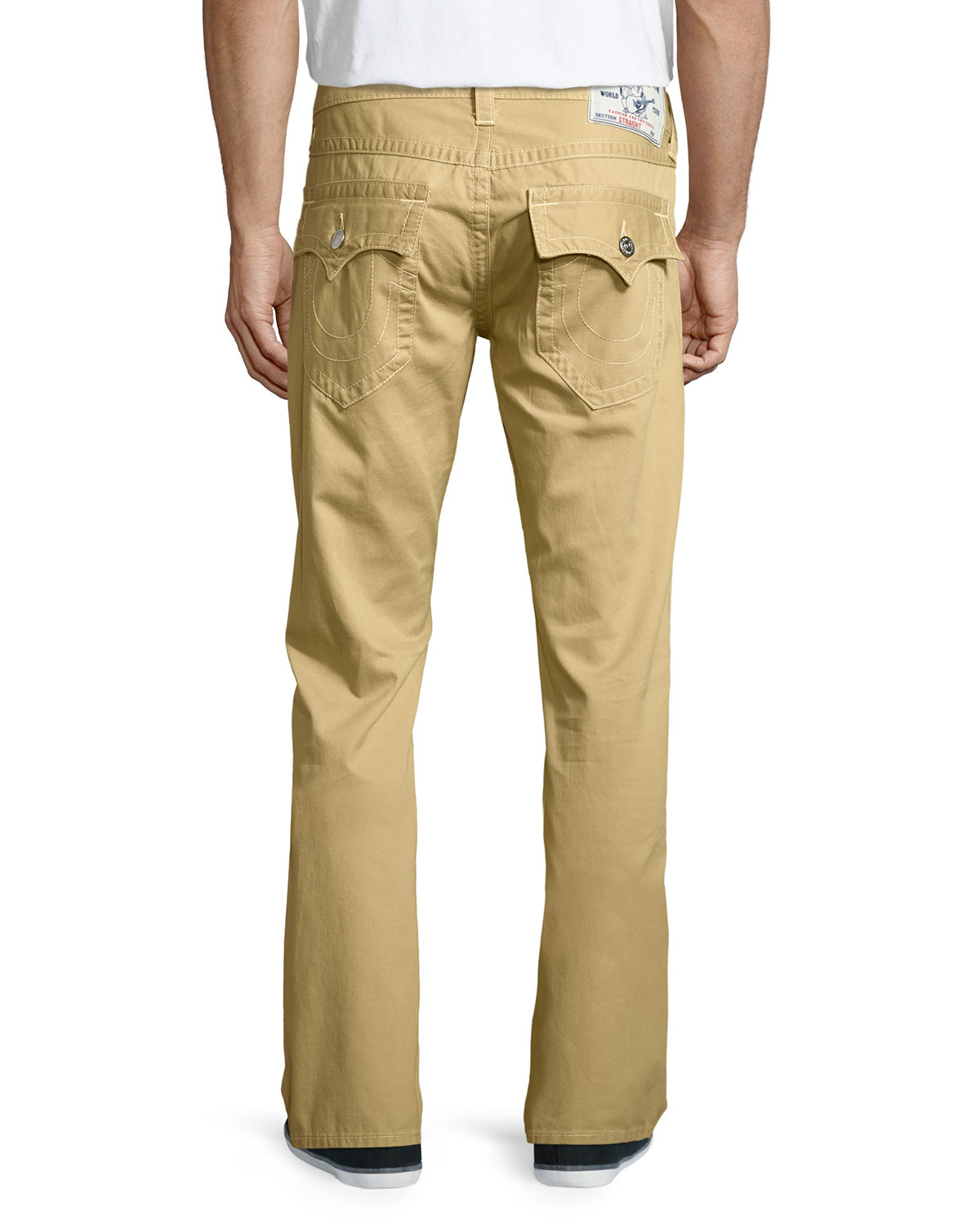 True religion Straight Flap-pocket Twill Jeans in Natural for Men ...