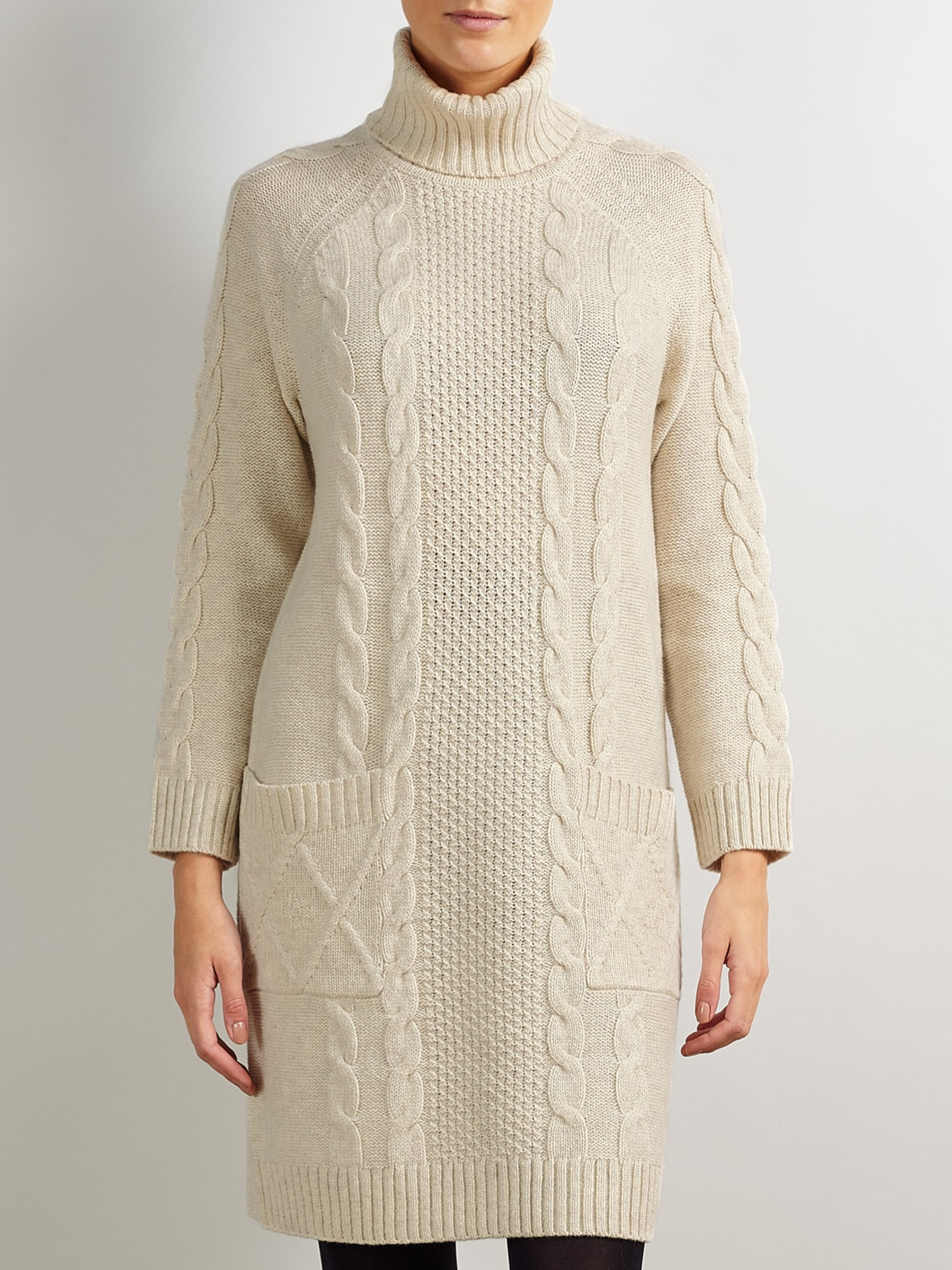 3a13702bf1769 Somerset by Alice Temperley Knitted Dress in Natural - Lyst