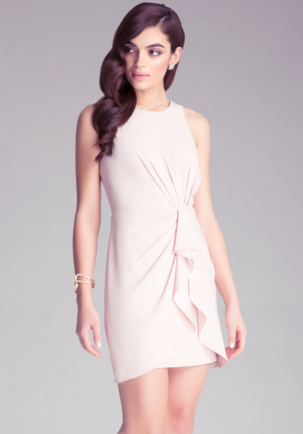 Lyst bebe ruffle dress in pink gallery ombrellifo Choice Image