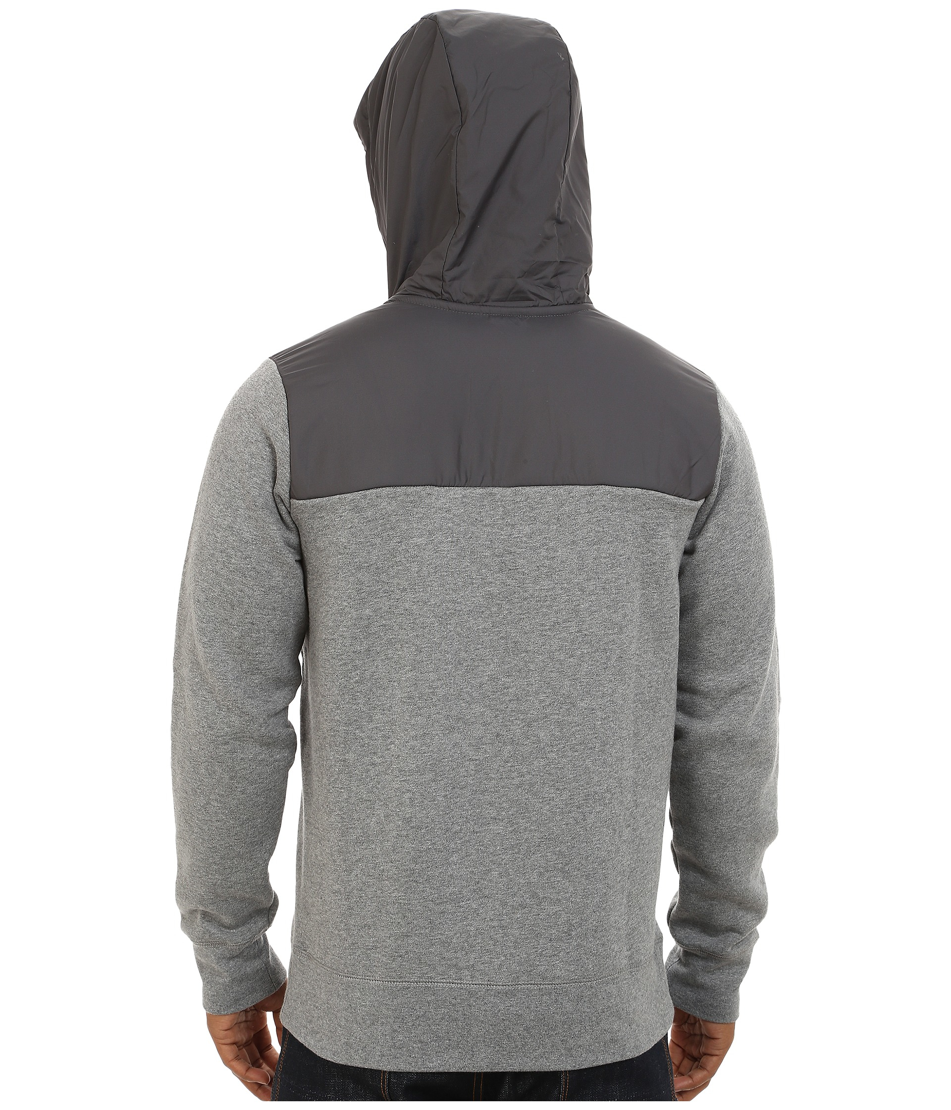 Nike Aw77 Fleece Hoodie Fabric Mix in Black for Men ...