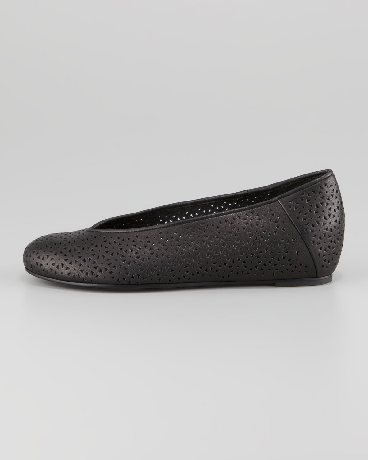 Lyst Eileen Fisher Patch Perforated Ballerina Flat In Black