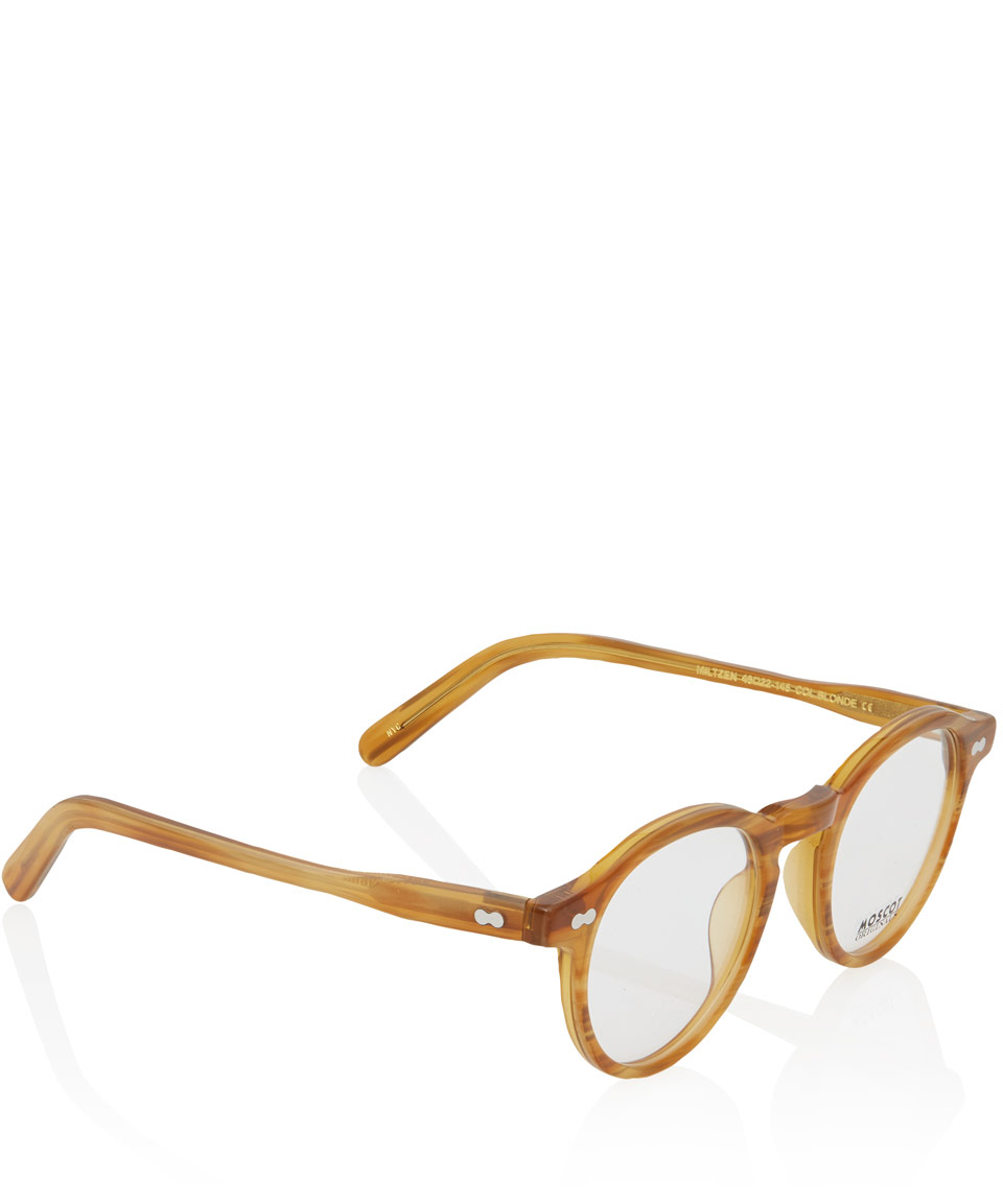 Glasses Frames For Blondes : Moscot Blonde Miltzen Glasses in Brown Lyst