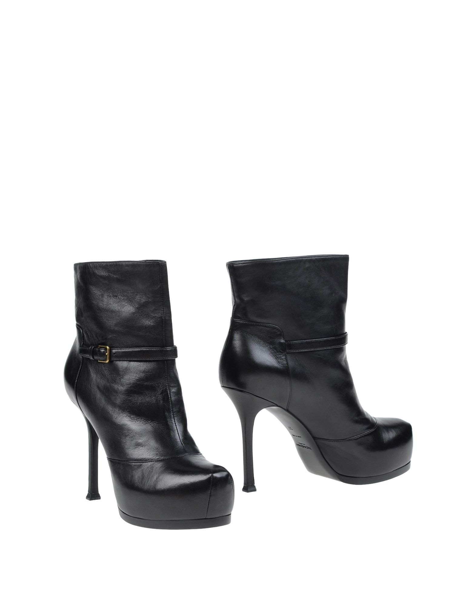 buy cheap best place Yves Saint Laurent Leather Round-Toe Ankle Boots low cost cheap price sale nicekicks outlet cheapest price cheap 2015 new db2zwsH8YJ