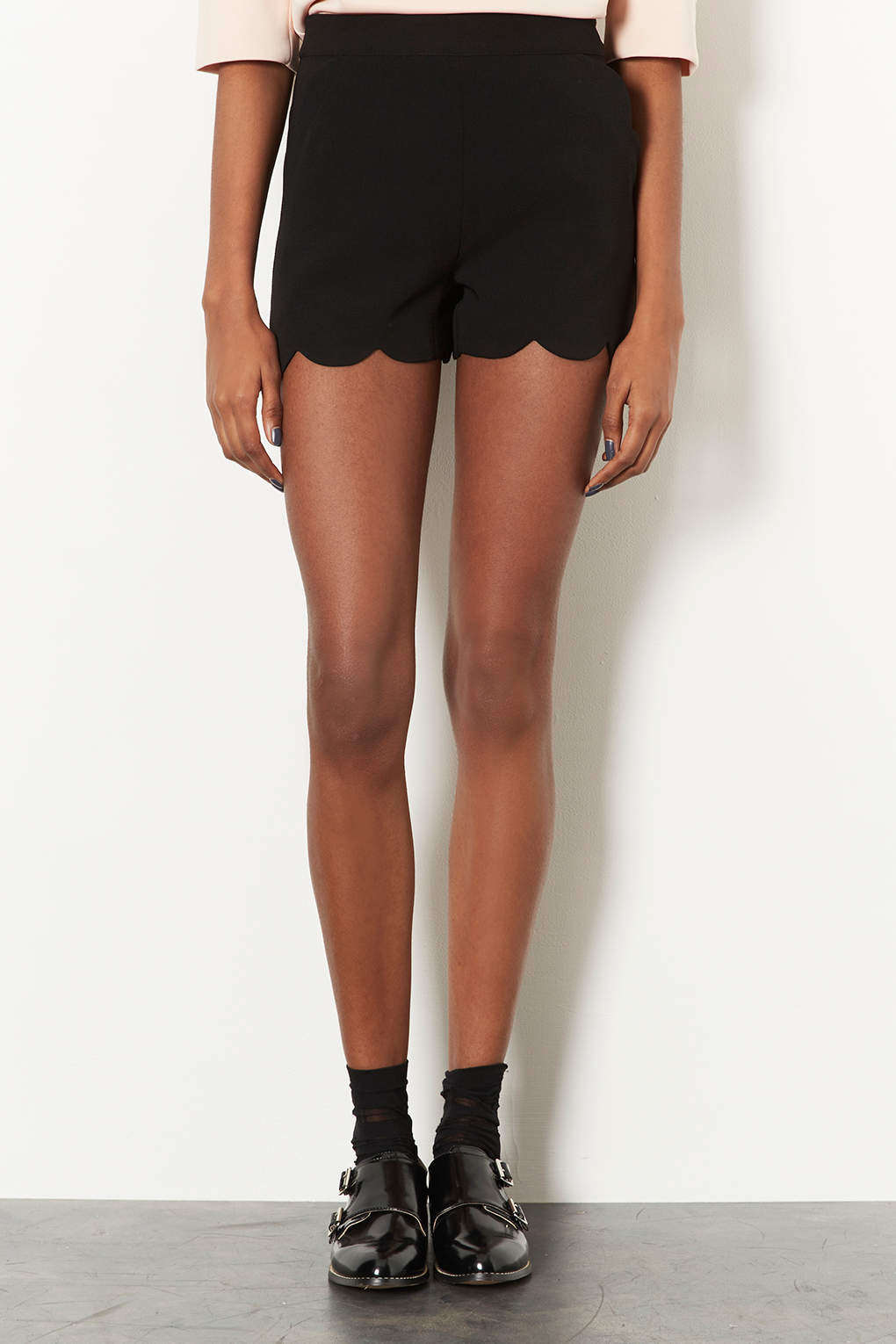 Low Price For Sale Topshop Womens Scallop Shorts - Buy Cheap 100% Guaranteed Cheap Order Cheap Online Shop IYxfA5