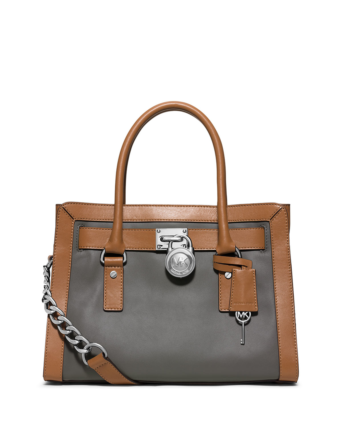 3ec9c8a6947d Lyst - MICHAEL Michael Kors Sutton Medium Leather Satchel in Brown
