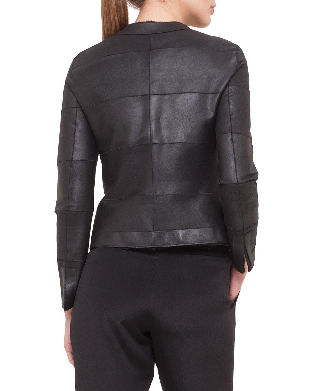 Akris Reversible Sheared Mink Fur & Leather Jacket in Black | Lyst