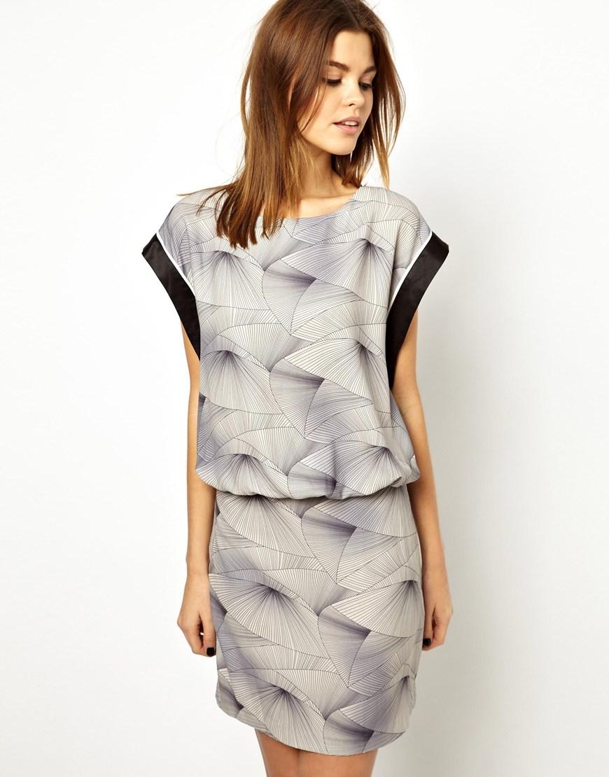 Lyst - Y.A.S Kimo Printed Dress e2b568119