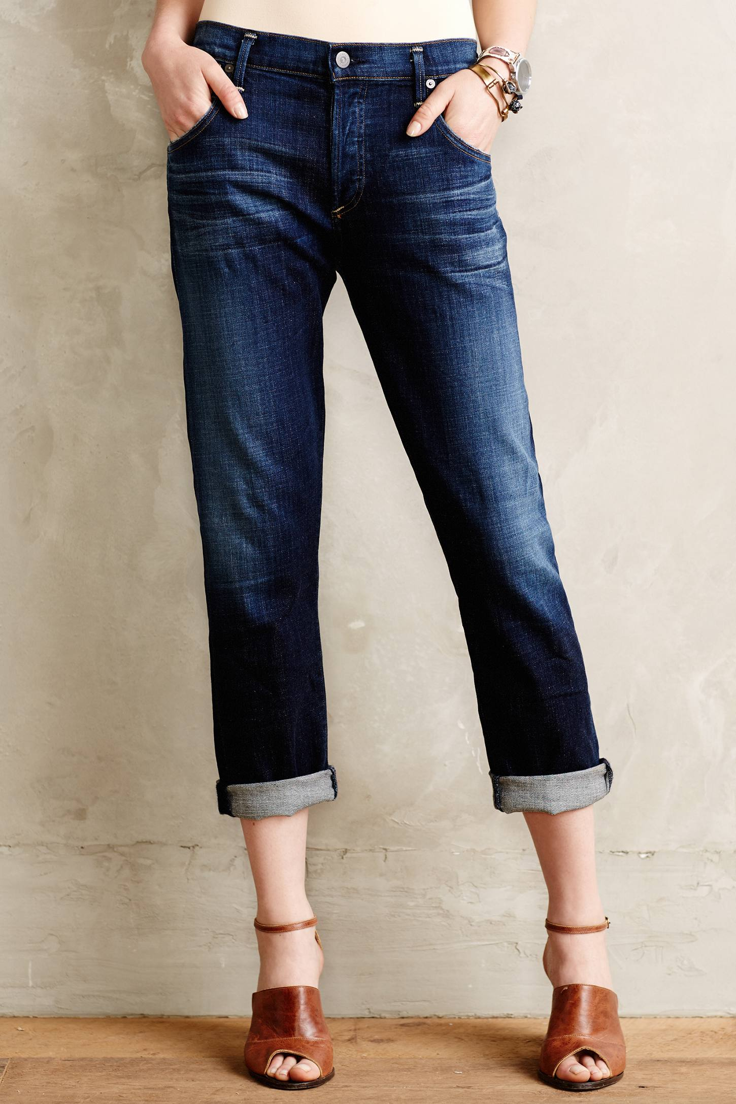 lyst citizens of humanity emerson boyfriend jeans in blue. Black Bedroom Furniture Sets. Home Design Ideas