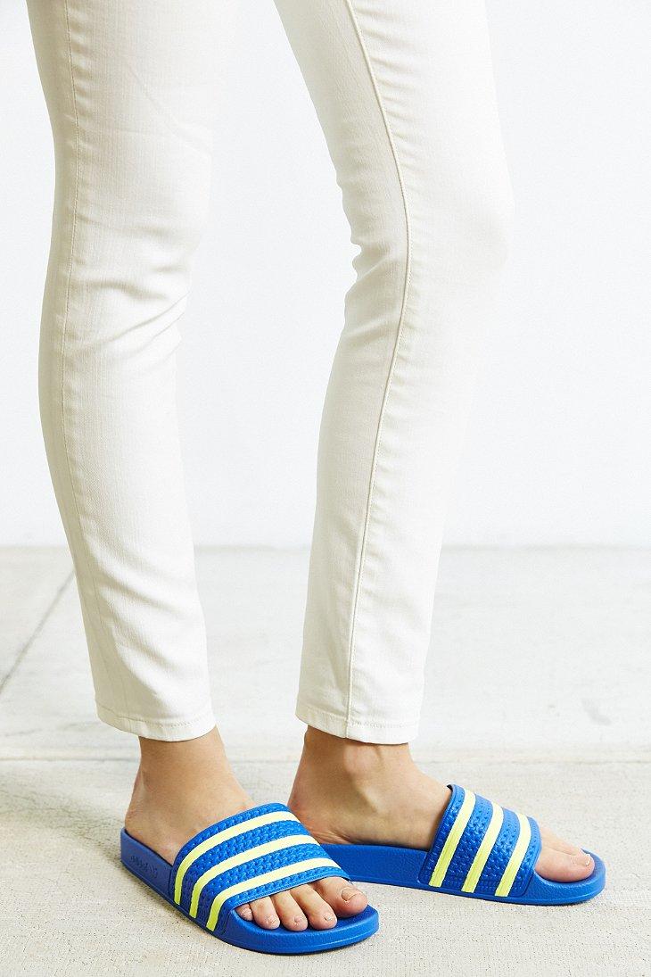 adidas Originals Adilette Pop Slide Sandal in Blue - Lyst 051d4aad5f