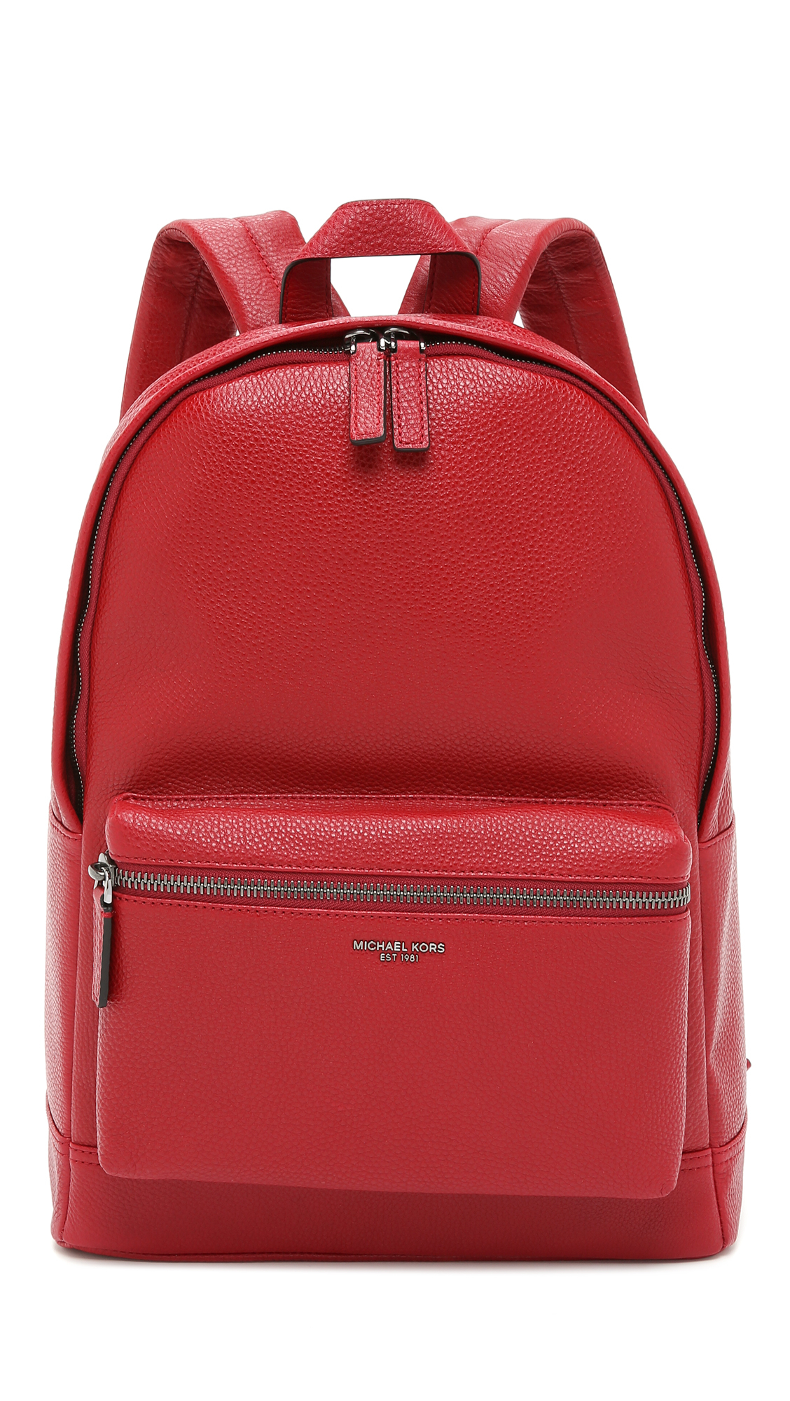 9f952f93261d Michael Kors Bryant Pebbled Leather Backpack in Red for Men - Lyst