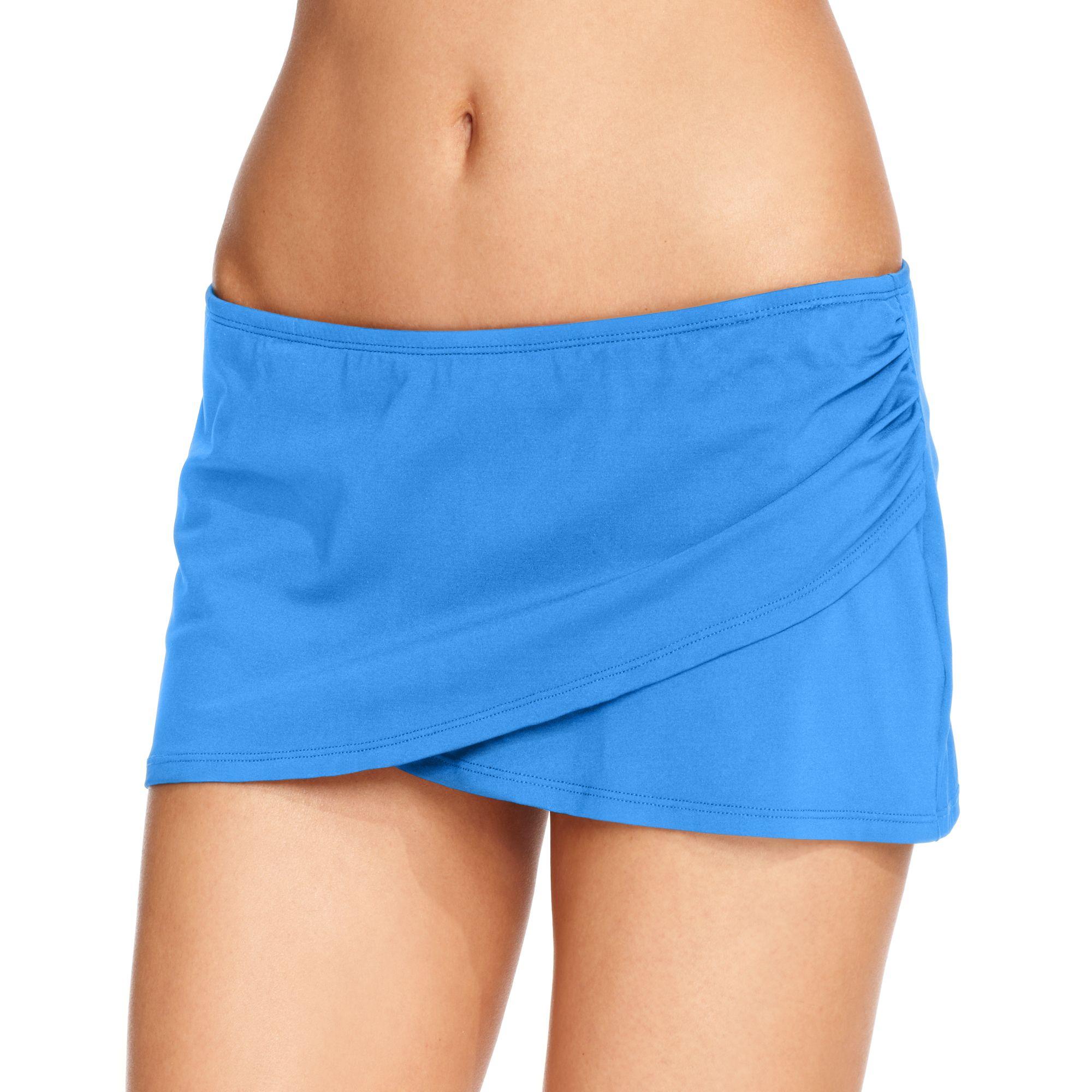 fb8d6ff7a4d50 Lyst - Anne Cole Tulip Swim Skirt in Blue