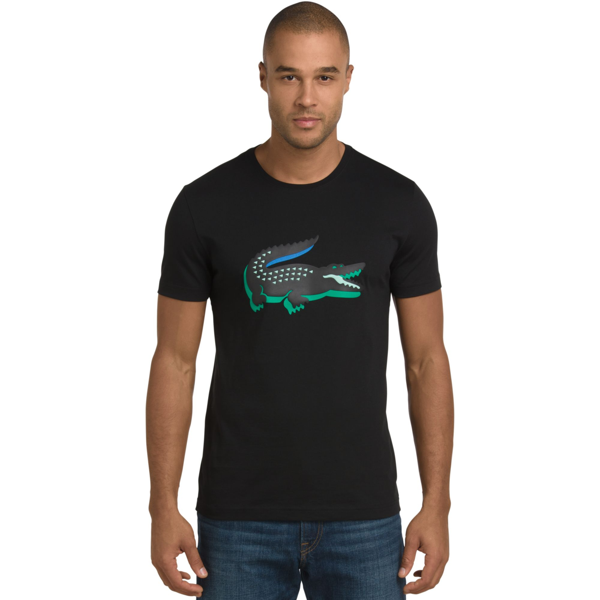 Lyst Lacoste 3d Rubber Crocodile Graphic T Shirt In